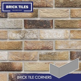 London Weathered Yellow Brick Tile Corners