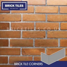 Heritage Soft Orange Brick Tile Corners