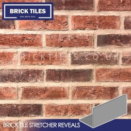 Urban Weathered Red Brick Tile Stretcher Reveals