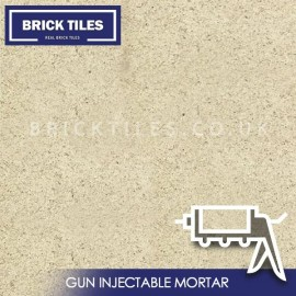 Natural White Brick Slips Gun Injected Mortar
