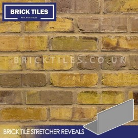 Olde Victorian Yellow Blend Brick Tile Stretcher Reveal