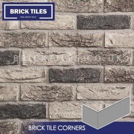 Atom Grey Brick Tile Corners