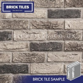Atom Grey Brick Tile - Sample