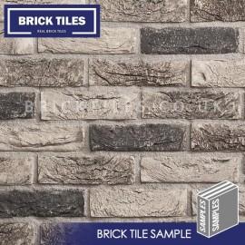 Atom Grey Brick Tile - Sample
